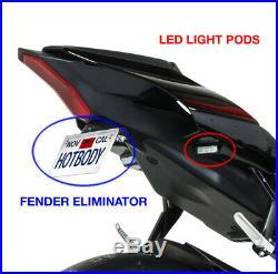 Black Fender Eliminator Kit with Turn Signal Pods HBR 81501-1000 Yamaha R1