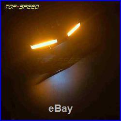 Black Fender Eliminator Tidy Tail Kit For YAMAHA YZF R1 2015-19 LED Turn Signals