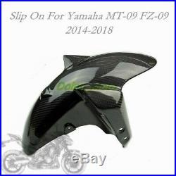 Carbon Fiber Front Fender Eliminator Mudguard For Yamaha MT-09 FZ-09 2014-2018