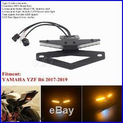 For YAMAHA YZF R6 17-2019 LED Tail Tidy Fender Eliminator License Plate Bracket