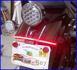 Yamaha Bolt Red LED Fender Eliminator Turn Signal Light Bar & Tag Mount Red