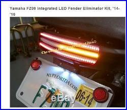 Yamaha Fz09 Integrated Led Fender Eliminator Kit 2014-2016 Chrome Glow