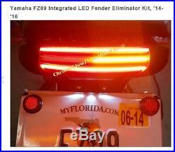 Yamaha Fz09 Mt09 Integrated Led Fender Eliminator Kit 2014-2016 Chrome Glow