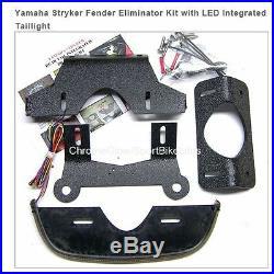 Yamaha Stryker Double Row Fender Eliminator Kit with LED Integrated Taillight
