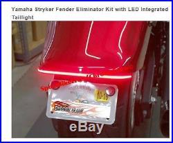 Yamaha Stryker Fender Eliminator Kit with LED Integrated Taillight CHROME GLOW