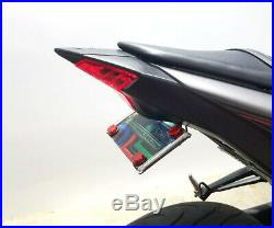 Yamaha YZF-R3 Fender Eliminator with Red LED Turn Signal Light Bars Clear Lens