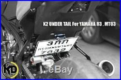 Yamaha YZF R3 R25 Fender Eliminator License Plate Short UnderTail Mudguard New