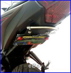 Yamaha YZF-R3 Tucked Fender Eliminator with Red LED Turn Signal Light Bar Clear