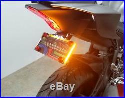 Yamaha YZF-R6 2017+ Fender Eliminator with Amber LED Turn Signals Smoked Lens