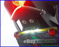 Yamaha YZF-R6 2017+ Fender Eliminator with Red LED Turn Signal Light Bar Red Lens